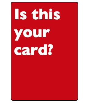 Flipping Card by Garvey